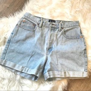 Vintage High Rise Button Fly Shorts